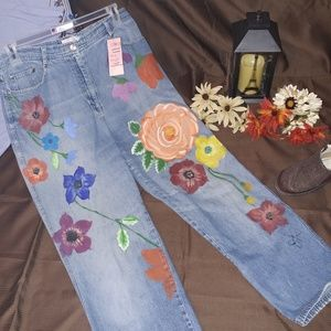 #105 Size 14 Painted Jeans